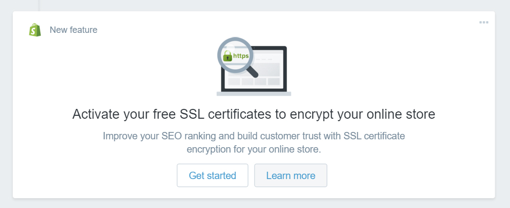 ssl notice on shopify